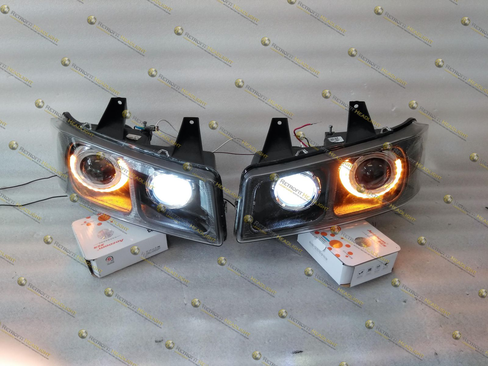 QBi Led фары Chevrolet Express Spider