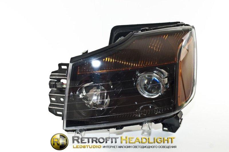 Бисветодиодные фары Nissan Armada 04-
