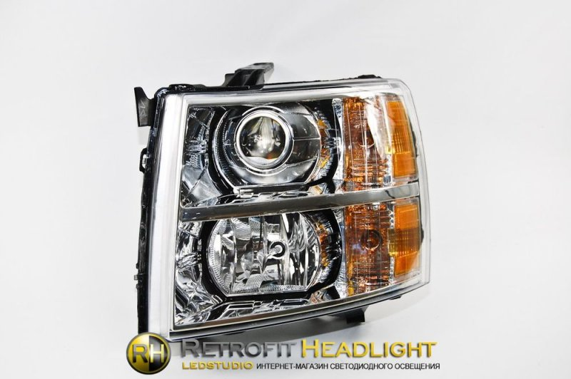Бисветодиодные фары Chevrolet Silverado 07-14
