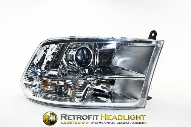 Бисветодиодные фары Dodge Ram 09-