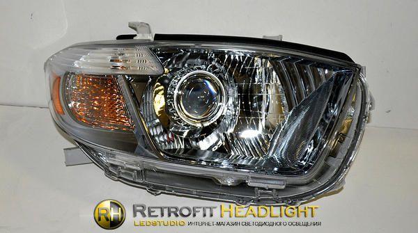 Бисветодиодные фары Toyota Highlander 07-10