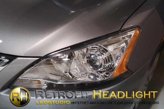 Бисветодиодные фары Nissan Sentra 13 -