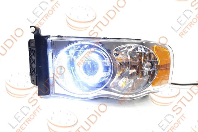 Бисветодиодные фары Dodge Ram 06-09