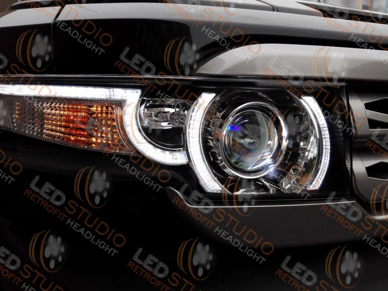Бисветодиодные фары Toyota FJ Cruiser 07-14 (Evogue)