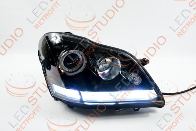 Бисветодиодные фары Mercedes ML W164 05-08