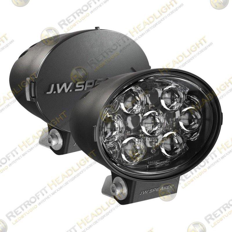 """JW Speaker Model TS3001V Driving Beam LED 7""""x5"""" Oval Auxiliary Lights, DOT 2 Light Kit"""
