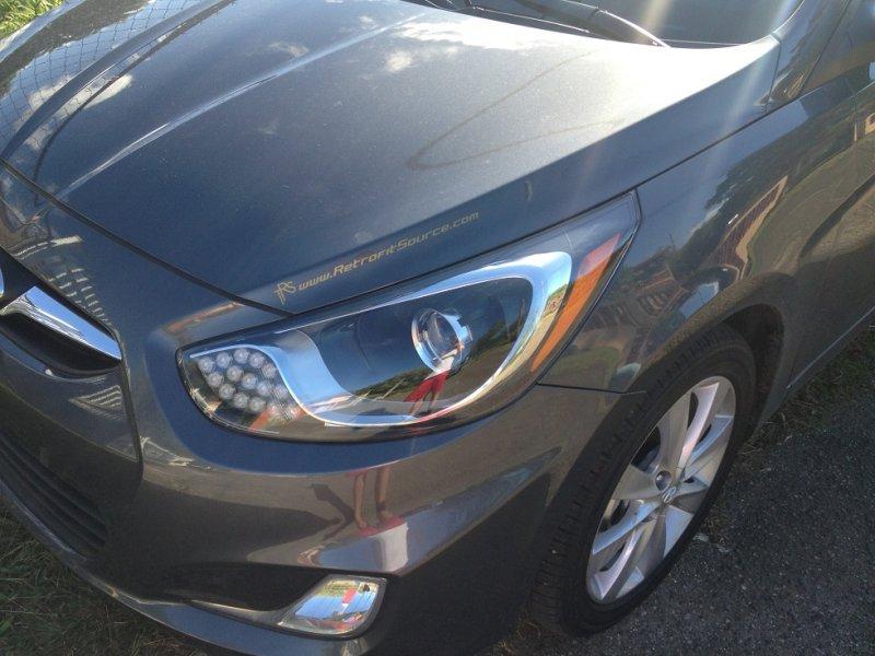 Бисветодиодные фары Hyundai Solaris 11-13