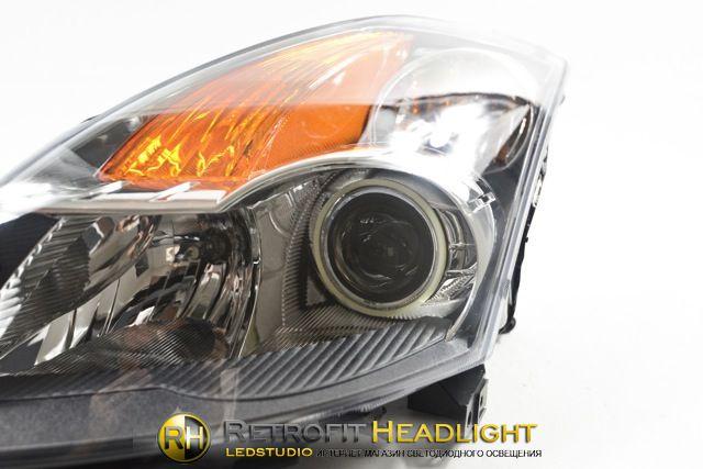 Бисветодиодные фары Nissan Altima 08-