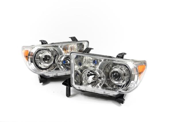 Бисветодиодные фары Toyota Tundra 07-