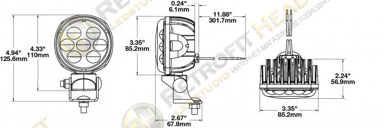 JW Speaker Model 4415 12-24V LED Work Light