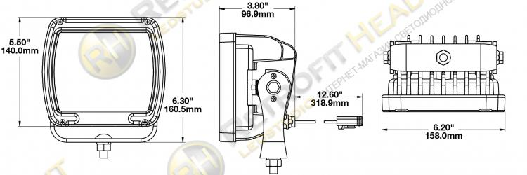 JW Speaker Model 526 12-24V LED Work Light