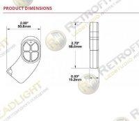 JW Speaker Model 9049 4-button Key Fob Remote (for 9049-4M Light Bar)