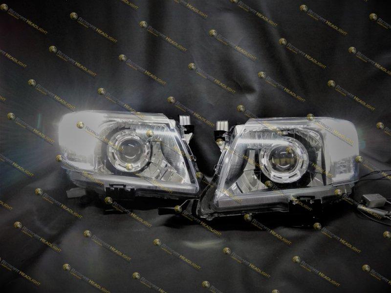BiLed тюнинг фары Toyota Hilux 11-
