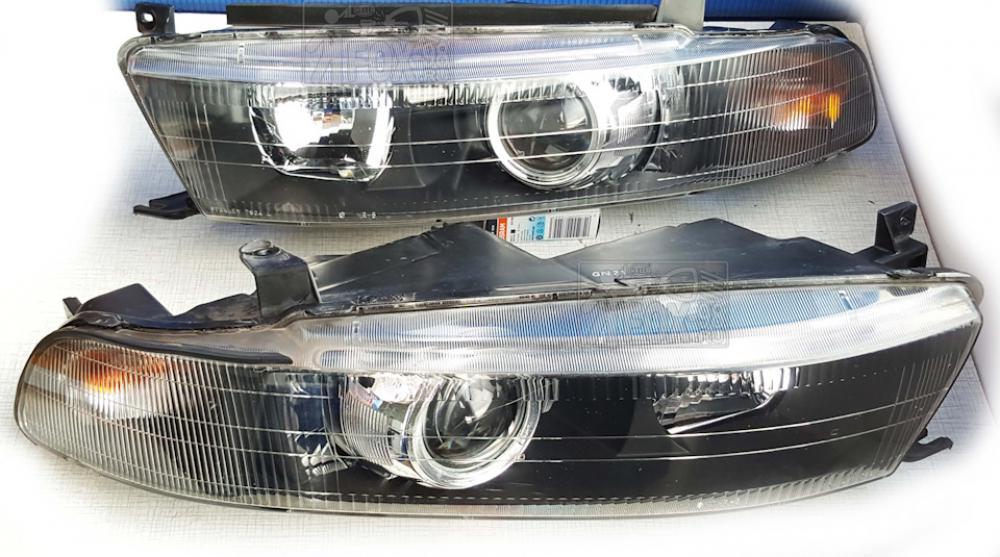 BiLed тюнинг фары Mitsubishi Galant 8 96-06