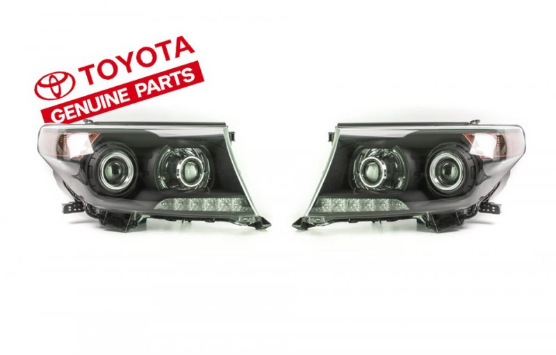 BiLed тюнинг фары Toyota Land Cruiser 200 12-