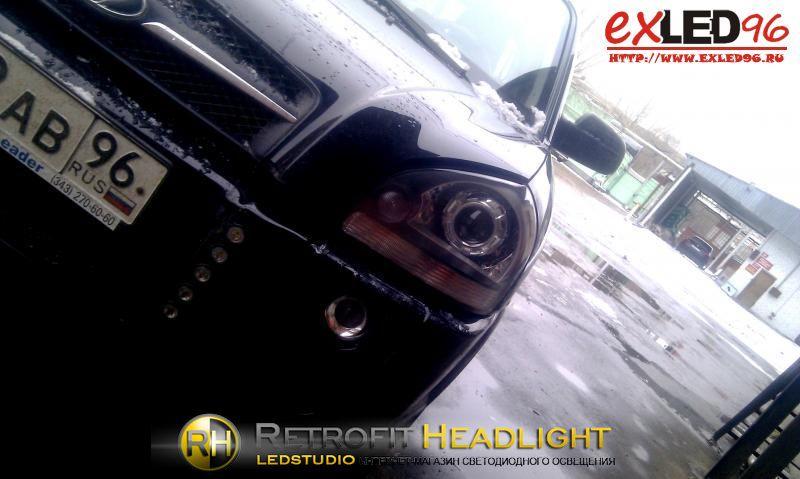 BiLed тюнинг фары Hyundai Tucson 04-