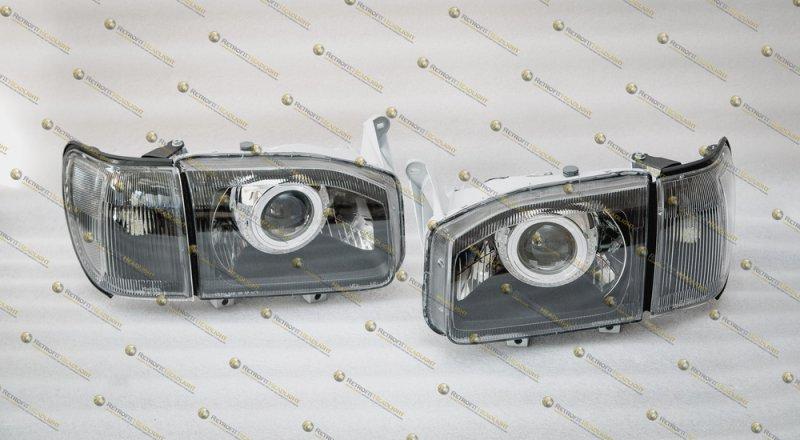BiLed тюнинг фары Nissan Pathfinder R50 USA 99-04