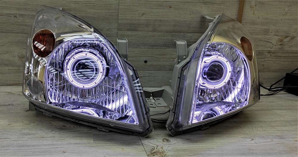 Автомобильные светодиодные BiLed Laser тюнинг фары Toyota Land Prado 120 (2002-2009) LEDSTUDIO