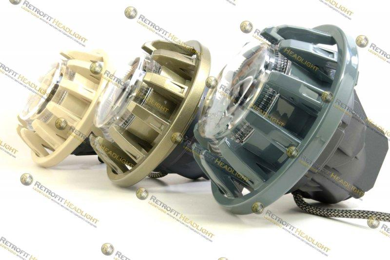 Бисветодиодные фары Hummer H2
