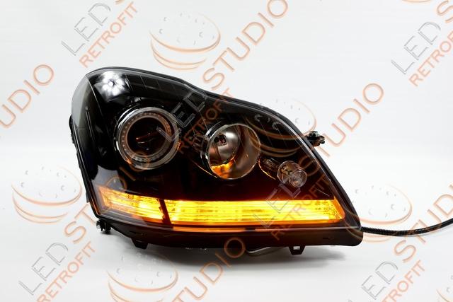 Бисветодиодные фары Mercedes ML W164