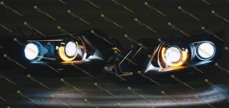 Бисветодиодные фары Toyota Allion 07-