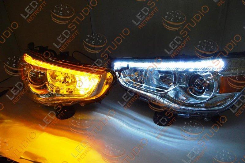 Бисветодиодные фары Mitsubishi ASX 10-