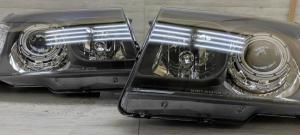 Автомобильные светодиодные BiLed Laser тюнинг фары Toyota Land Cruiser 100 (1998-2005) LEDSTUDIO